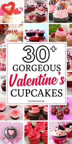 Make Valentine's Day extra special this year by making cute fun Valentine's Day Cupcakes. These Valentine's Day Cupcakes are the perfect edible gift. day party food Fun Valentine's Day Cupcakes - This Tiny Blue House Valentine Desserts, Valentines Day Food, Valentine Day Cupcakes, Valentine Day Special, Valentine Day Crafts, Valentine Treats, Valentines Recipes, Valentines Day Gifts For Friends, Valentine Party