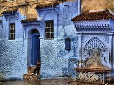 Chefchaouen Atlas Mountains Morocco, Blue City, Le Far West, A Whole New World, Arabian Nights, Moroccan Style, Moorish, Travel Images, City Streets