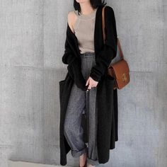 Knitted Open Front Long Maxi Cardigan c9d968724