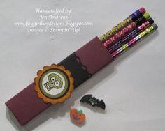 spooky bingo bits pencil holder treat box