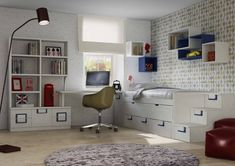 Recursos para cambiar de habitación: de niños a adolescentes – Deco Ideas Hogar Volleyball Room, Corner Desk, Bedroom, Furniture, Home Decor, Products, Environment, Modern Bedrooms, Small Bedrooms