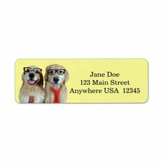 about Golden Retriever Address Labels on Pinterest | Return address ...