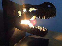Dinosaur light   Etsy Dinosaur Light, Dinosaur Head, Dinosaur Puzzles, Hanging Lights, Kids Room, Fantasy, 3d, Handmade Gifts, Etsy