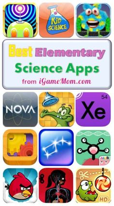Best Science Apps for Elementary School Kids! Love these science apps for kids! With the multi-media contents and interactive features, kids will use all their senses and learn at their own pace. Great as school science class supplements, homeschool, or a Kindergarten Science, Teaching Science, Science For Kids, Preschool, Computer Games For Kids, Computer Lessons, Technology Lessons, Computer Lab, Educational Apps For Kids