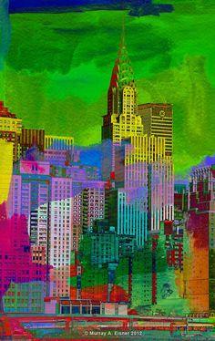 CHRYSLER BUILDING in New York  /// Pop  Art Giclee by EisnerArt, $25.00