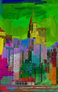 CHRYSLER BUILDING in New York  /// Pop  Art Giclee by EisnerArt, $25.00