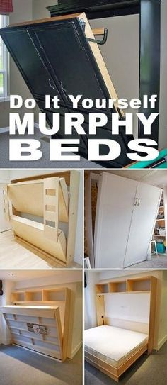 DIY Murphy Beds! • Tons of ideas and tutorials! • Browse this post and pick one of these murphy bed projects! by allisonn