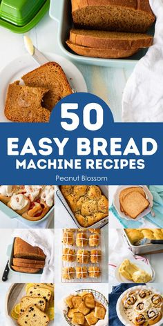 These easy and delicious bread machine recipes are the perfect breads to bake with your bread maker. Your family will love homemade white bread, savory breads for soups, sweet breads for weekend brunch, and easy homemade dough for pizza, dinner rolls, pretzels, cinnamon buns, and so much more! Easy Bread Machine Recipes, Best Bread Machine, Bread Maker Recipes, Easy Baking Recipes, Easy Cookie Recipes, Homemade White Bread, Baker Recipes, Delicious Sandwiches, Dinner Rolls