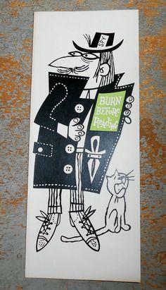 Vintage Cards Birthday Card Greeting Card Spy Funny by TheBackShak, $3.00