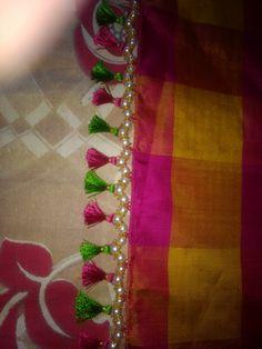 Saree Jacket Designs, Saree Tassels Designs, Saree Kuchu Designs, Saree Blouse Neck Designs, Dress Neck Designs, Hand Work Blouse Design, Saree Jackets, Silk Thread Bangles, Sewing Art