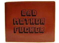 Porte Monnaie Pulp Fiction Bad Mother Fucker Brodé en Cuir