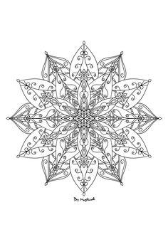 Mandala #mandala #zentangle #arttherapie #coloriageadulte #coloriagezen #coloriage True Colors, Colours, Pattern Ideas, Tattoo Drawings, Tattos, Zentangle, Dyi, Snowflakes, Creations