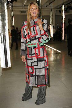 Anna Dello Russo en total look Loewe au défilé Proenza Schouler printemps-été 2016