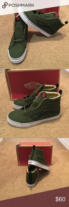 121366fd88 Military Twill SK8-Hi Reissue PT Vans New in box. Rifle Green Vans Shoes
