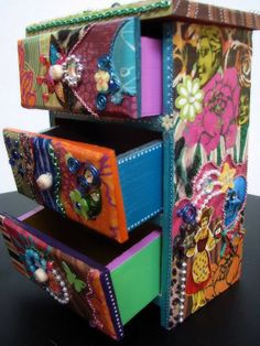 Mixed Media Jewelry Dresser for the Creatively by SarahHensleyArt, $150.00