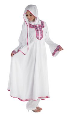 Abyad Salwar Kameez/ Pakistani Indian Salwar Kameez/  Abaya Jilbab Dress