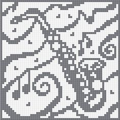 musique - music - saxophone - point de croix - cross stitch - Blog : http://broderiemimie44.canalblog.com/