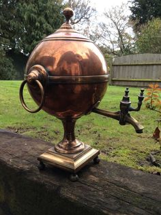 Late Georgian / Regency Hot Water Urn Copper and Brass 17th 18th 19th Century