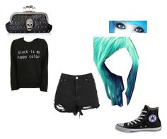 """""""Untitled #1"""" by alexeastonxx ❤ liked on Polyvore featuring Converse and Chicas Fashion"""