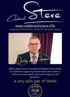 A quality and compassionate Funeral Celebrant, and a funeral industry favourite. Funeral Directors, Bereavement, Compassion, Names, Celebrities, Celebs, Undertaker, Celebrity, Famous People