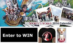 Who wants a 2014 Shorty's World Calendar? A Shorty's Pit Bull Rescue tshirt? AND a Hercules Bobblehead (not available for purchase) For ONLY ten dollars? Here's your chance - TEN hours left! World Calendar, Wag The Dog, Enter To Win, Bobble Head, Hercules, Pit Bull, Dream Big, Animal Rescue, Charity