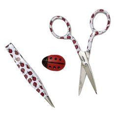 Aw! Look at those tweezers! Lady Bug 3-Piece Set - Sewing & Craft Club
