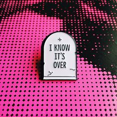 The Smiths Morrissey I Know It's Over Soft Enamel Lapel