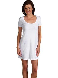 Three Dots S/S Scoop Neck Dress White - 6pm.com..r2d2