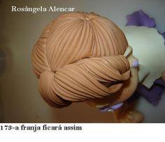 МК как слепить волосы/парик для куклы -How to Make a Doll Wig / Doll Hair - Мастер-классы по украшению тортов Cake Decorating Tutorials (How To's) Tortas Paso a Paso