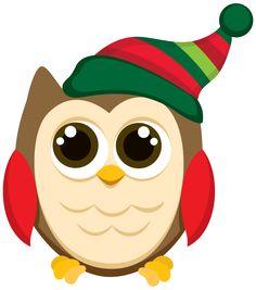 CHRISTMAS OWL CLIP ART