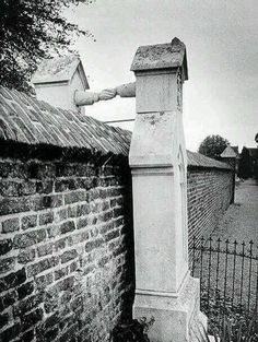 Graves of a Catholic woman and her Protestant husband, who were not allowed to be buried together.. Netherlands, 1888