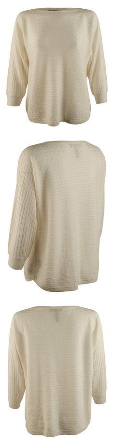 $38 - Lauren Ralph Lauren Womens Cable Knit Silk Blend Pullover Top Pearl #ralphlauren