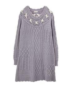 【先行販売】リボン編み込みニットチュニ | axes femme online shop