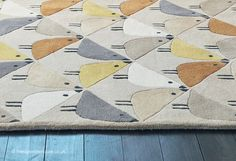 Lintu Dandelion Rug - texture close up (Scion), a contemporary wool rug with an irresistible bird print pattern (hand-tufted, 100% wool, 3 sizes) http://www.therugswarehouse.co.uk/modern-rugs3/scion-rugs/lintu-dandelion-rug.html