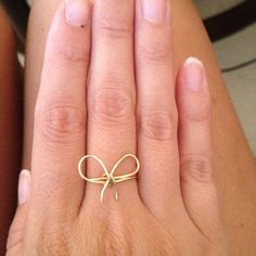 Inspired by my Blue Nile knot bow ring