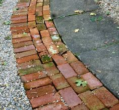 red brick mosaic front yard - Google Search