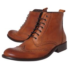 Buy KG by Kurt Geiger Dorset Leather Brogue Boots Online at johnlewis.com