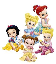 Disney Princess Cupcakes, Disney Princess Babies, Disney Princess Drawings, Disney Princess Pictures, Disney Drawings, Baby Disney Characters, All Disney Princesses, Disney Fairies, Kawaii Disney