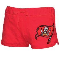 NFL Tampa Bay Buccaneers Womens Pink Victorias Secret Shorts with Embroidered Logo