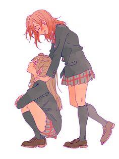 Anime Sisters, Anime Siblings, Anime Couples, Film Manga, Manga Anime, Anime Art, Anime Best Friends, Friend Anime, Bff