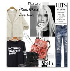 """""""Shein 2"""" by barbarela11 ❤ liked on Polyvore featuring moda, Abercrombie & Fitch ve Free People"""