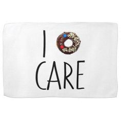 i do not care don't donut funny text message dough hand towel - decor gifts diy home & living cyo giftidea
