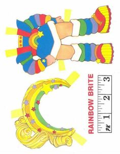 Rainbow Brite* Free paper dolls at Arielle Gabriel's The International Papef Doll Society and The China Adventures of Arielle Gabriel the huge China travel site by Arielle Gabriel *
