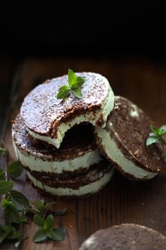 This Rawsome Vegan Life: MINT CHOCOLATE CHIP ICE CREAM SANDWICHES