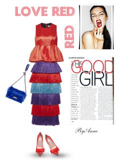 """""""Good girl Love Red ❤️❤️"""" by anne-977 ❤ liked on Polyvore featuring Stella Jean, Sonia Rykiel, Kate Spade, women's clothing, women, female, woman, misses, juniors and katespade"""