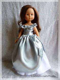A gorgeous dress for Corolle Les Cheries dolls. Love the doll and the dress.