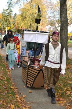 pirate ship made around a wagon!