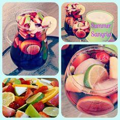 Sangria Recipe w/ Red Wine, Limes, Lemons, Apples, Strawberries, Raspberries, Cherries and Oranges