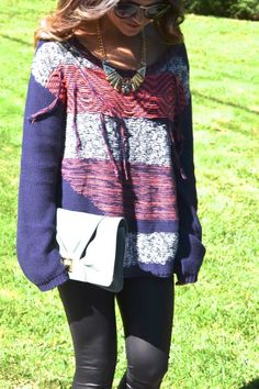 baggy sweaters + leather leggings {fall fashion}