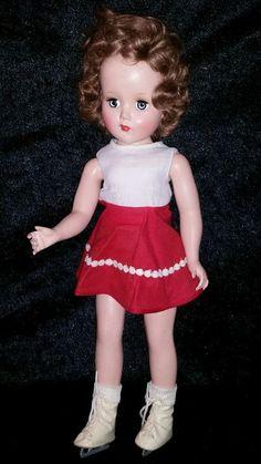 """Excellent Vintage 18"""" Arranbee R&B Doll Nancy Lee Ice Skater Hard Plastic  #ArranbeeRB #Dollclothing"""
